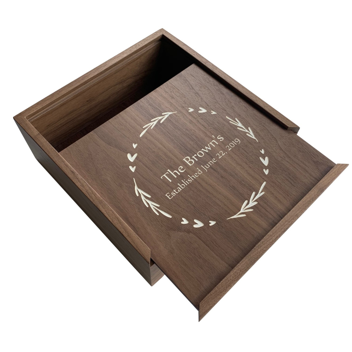 Letter Storage Box – Personalized – Walnut