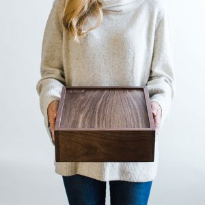 Walnut Wood Letterbox - Personalized