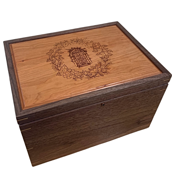 Personalized Anniversary Box – Walnut and Cherry