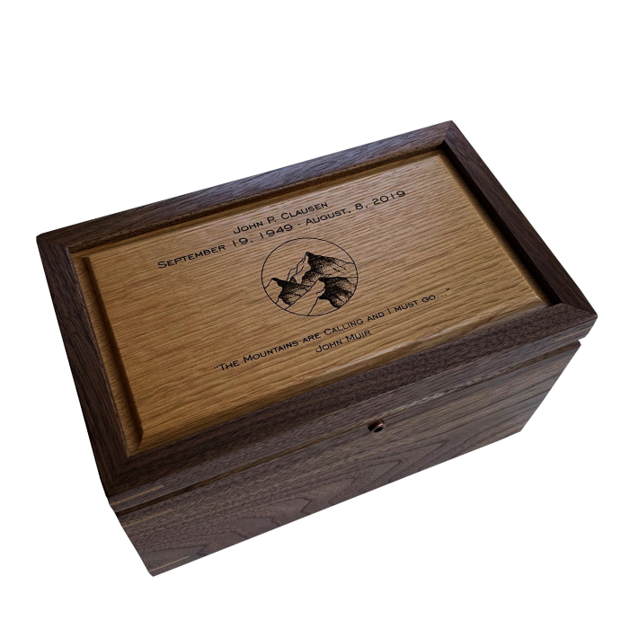 Keepsake Box – Personalized – Walnut and Quarter Sawn Oak
