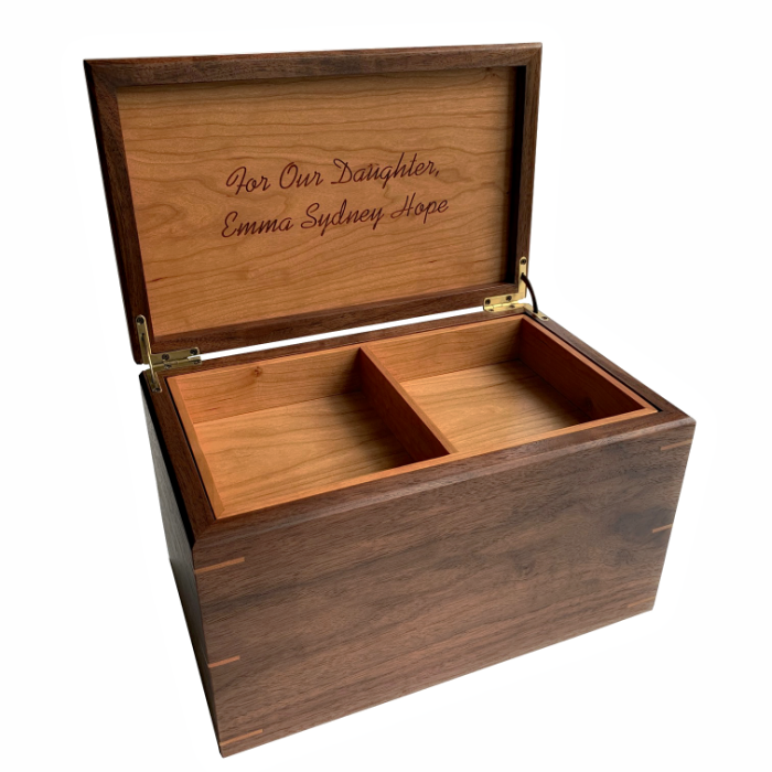 Large Keepsake Box – Personalized – Walnut with Cherry
