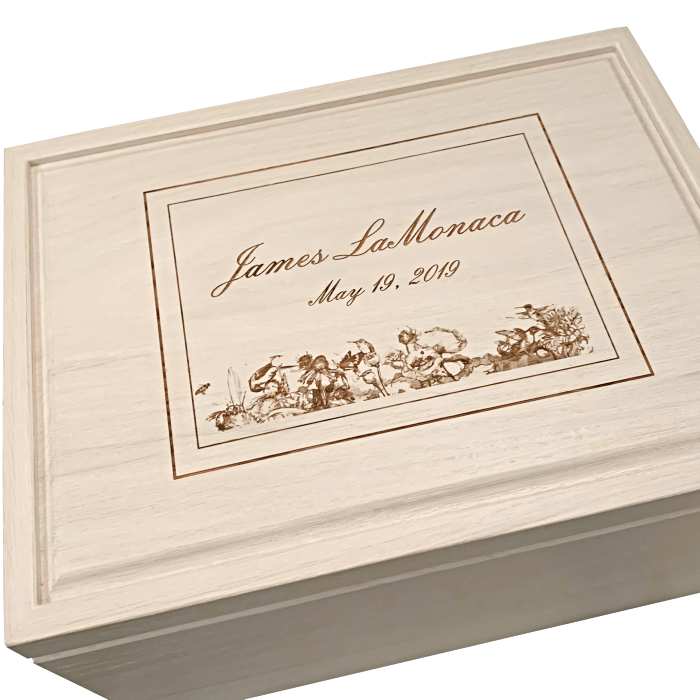 XL Legacy Size White Keepsake Box – Whitewash White Oak