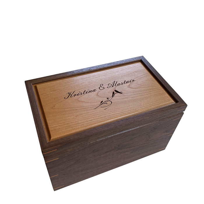 Large Keepsake Box – Personalized – Walnut and Cherry