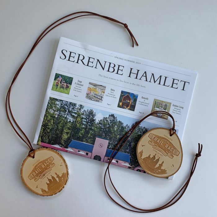 Live Edge Wooden Trail Race Medal – Engraved