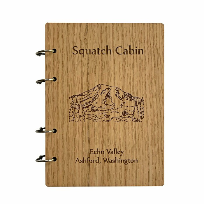 Wooden Journal – Personalized – Oak