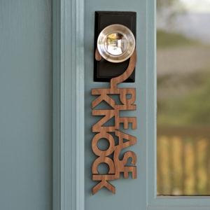 Please_Knock_Sign_Hanger