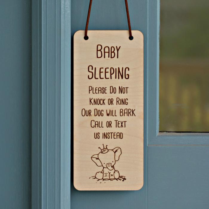 Baby Sleeping Door Hanger