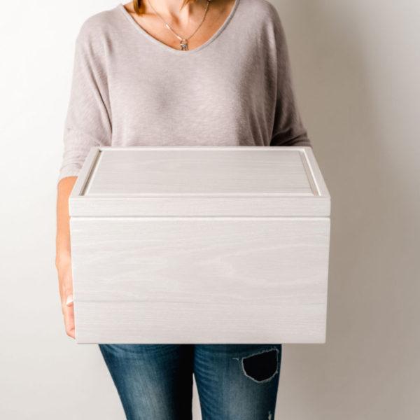 Large White Memory Box