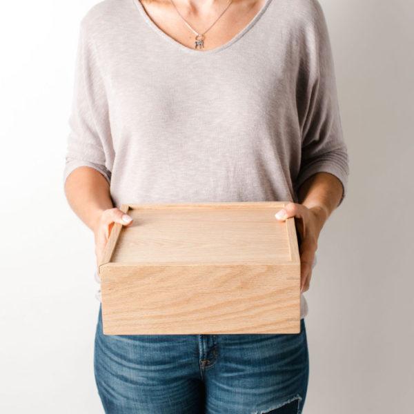 Wood Box with Sliding Lid