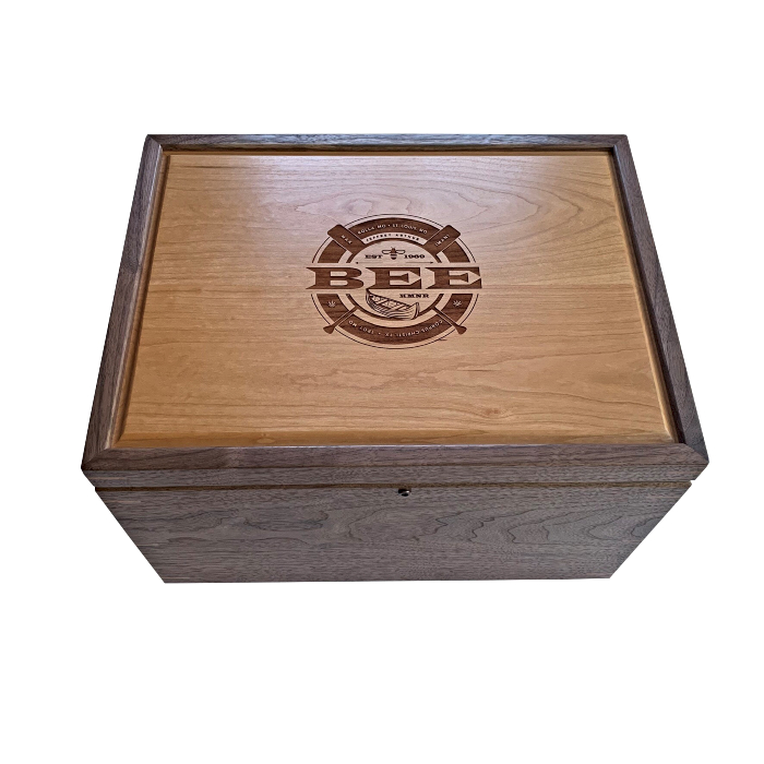 Legacy XL Keepsake Box  – Personalized – Walnut with Cherry