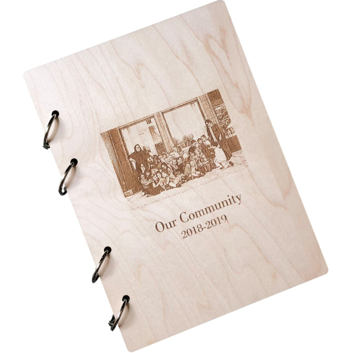 Personalized Wooden Journal – Hard Maple