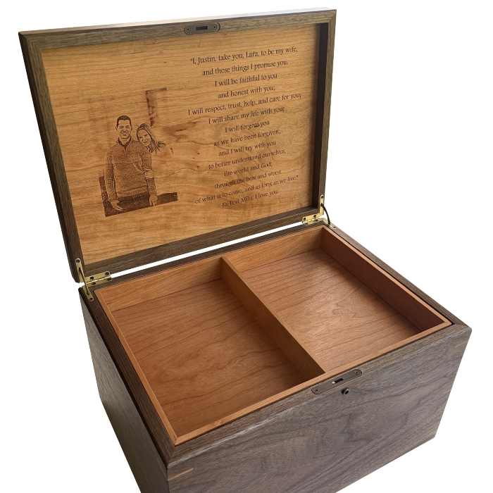 Legacy XL Keepsake Box – Personalized – Walnut and Cherry