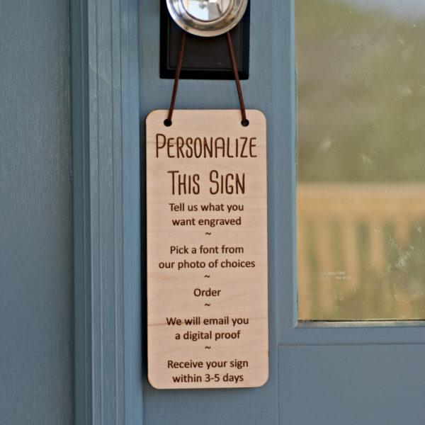 Personalized Door Hanger
