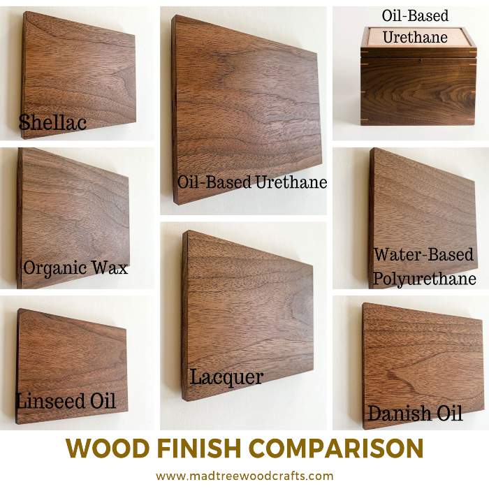 Photo Comparison of the Different Wood Finishes