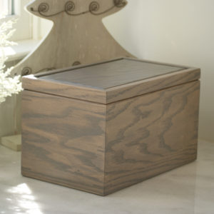 Personalized Gray Keepsake Box