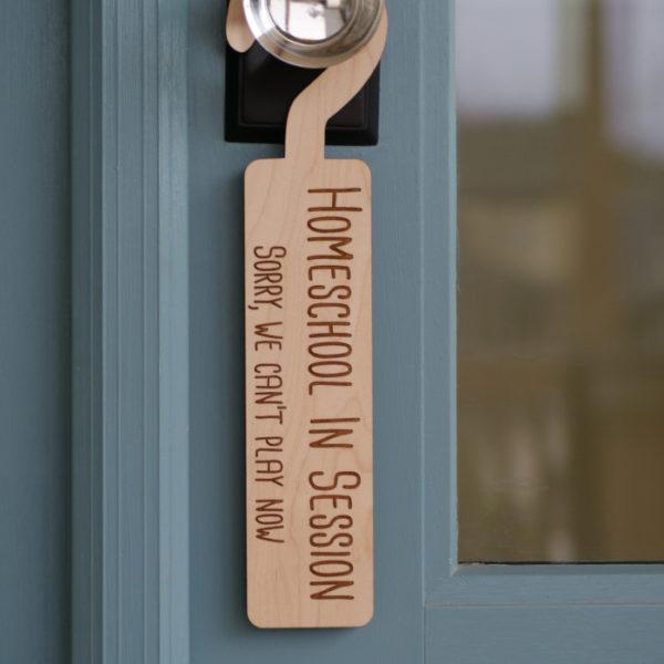 Home School Door Sign