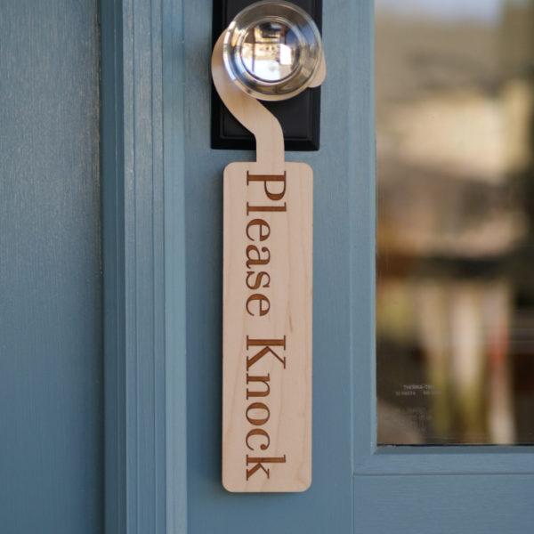 Please Knock Door Hanger