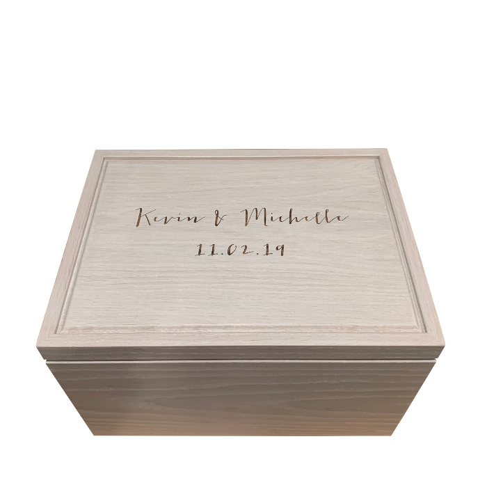 Personalized Legacy Keepsake Box – Whitewash White Oak