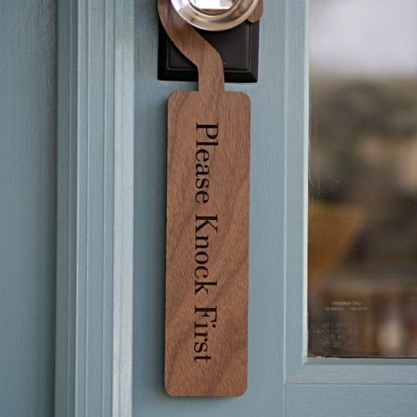 Please Knock Door Sign
