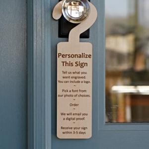 Personalized Door Hanger Sign