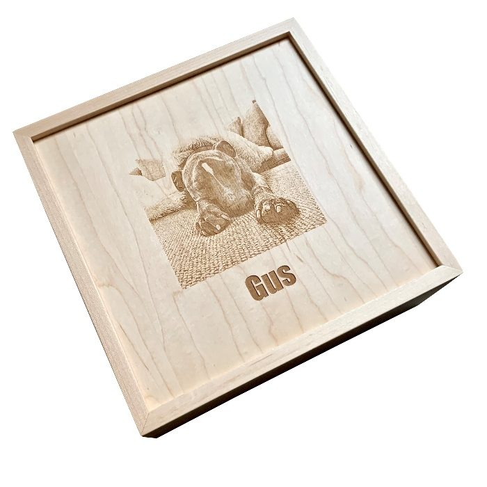 Personalized Dog Memorial Box – Hard Maple