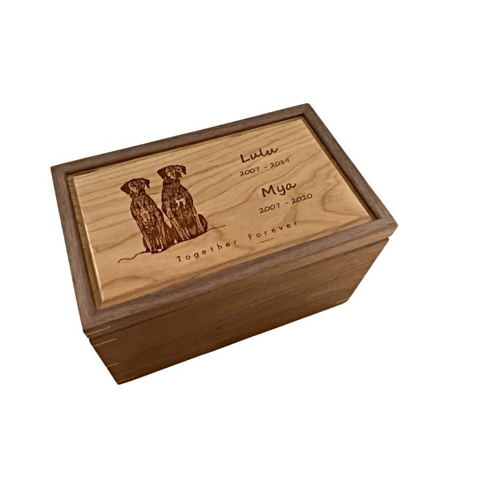 Large Keepsake Box – Personalized – Walnut with Cherry