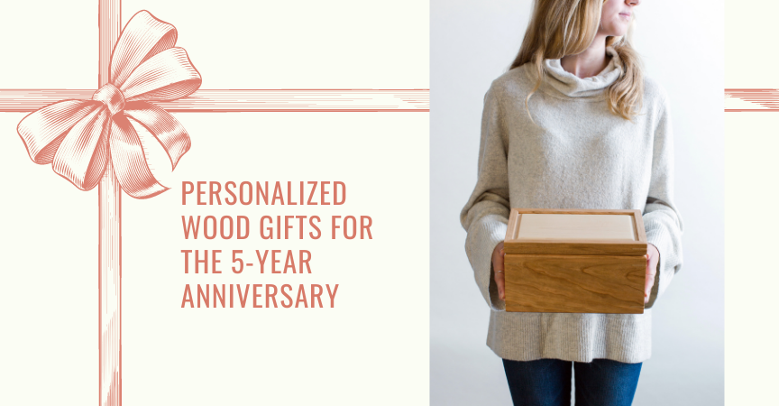 Personalized Wood Gifts for the 5-Year Anniversary