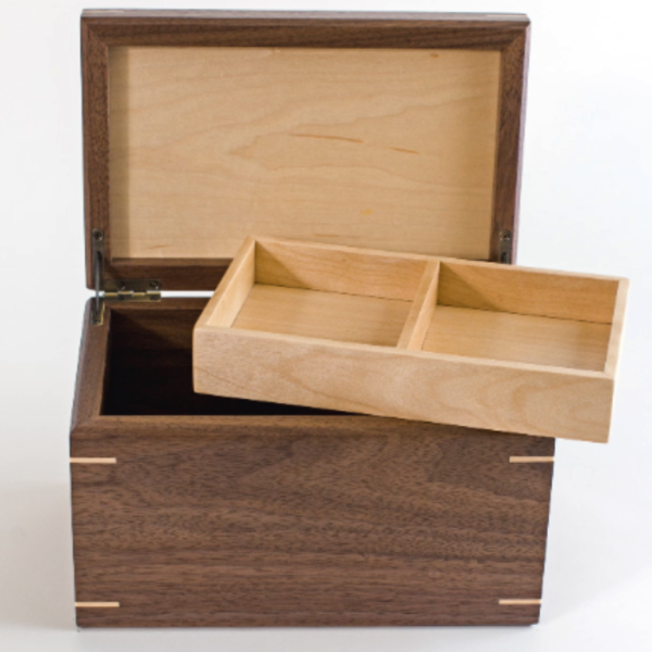 memory box with pull out tray